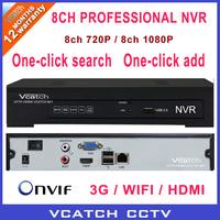 Vcatch 8ch 1280*720P H.264 Onvif NVR Standalone Network Video Recorder VC-6100-8EL