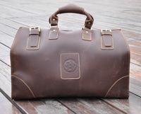 Men Luxury bags Mens Large capacity travel bag crazy horse top grain leather bag shoulder messenger bag for men genuine leather