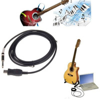 3M USB PC Guitar Bass Link Recording Audo Adapter Cable Free Shipping