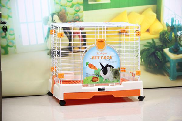 Deluxe Orange White Pet Rabbit Guinea Pig Chinchilla Ferret Detatchable Drawer Dog Cage CA-58(China (Mainland))
