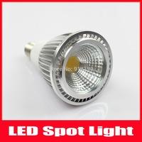 5W COB Chip LED Bulb Lamp E14 Spotlight Dimmable Lights Warm White / Cool White 5pcs/Lot Free Shipping