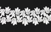 3 Yards Elaborate Fabric Flower Venise Lace Applique DIY Craft