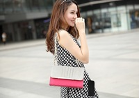 HOT HOT! 2014 New Arrival Lady Women Fashion Retro Chains Shoulder Bag Handbag Messenger Bag Top Quality