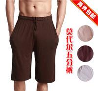 Free shipping Lovers pants modal knee-length pants bamboo fibre furniture shorts pajama pants loose pants plus size