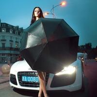 Large double layer folding umbrella sun protection umbrella luxury commercial vinyl umbrella anti-uv 50