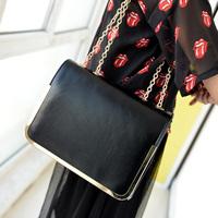 small oil skin chain women's handbag vintage candy small shoulder bag cross-body bag female