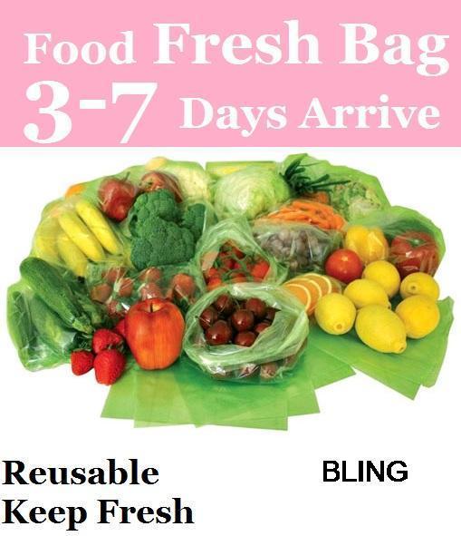 3000pcs/lot Frozen Food Vegetable Fresh Plastic Bag Wrap Free TNT Fedex Shipping Wholesale As Seen On TV EU(China (Mainland))