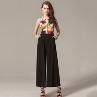 2014 European and American brands selling new summer elegance one piece pants casual pants Siamese trousers Jumpsuit playsuit