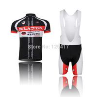 NEW arrive men's 2014 sportsweas KUOTA black clothing jersey Bicycle cycling wear bike cycling jerseys +bibs shorts sets