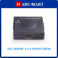 2014 New 3X1 HDMI V1.4 Switcher HDMI Mini Amplifier Switcher Support 3D 1080P #CG092