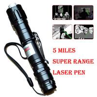 New Green Laser Pointer Pen 5miles 532nm 8000M Super Range Light Laser Star Cap