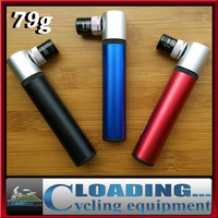 2014 new 79g ultralight mini portable pocket cycling air pump bicycle tire inflator for mtb bike schrader presta black red blue