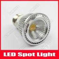 5W COB LED Lights Spotlight E27 Bulb Lamp AC 110V 220V Support Dimmable Warm White Cool White ,5pcs/Lot ,Free Shipping