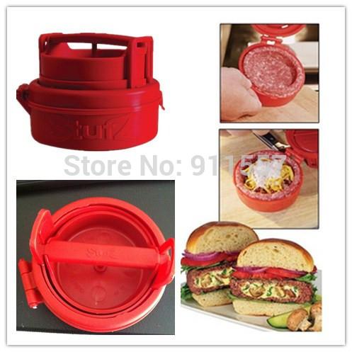 No box 2014 latest Stufz Stuffed hamburger press,kitchen meat and poultry tools,burger press meat,hamburger machine #H0341(China (Mainland))
