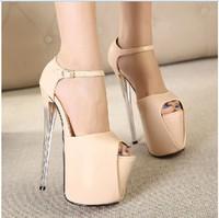 Free shipping women pumps new 2014 sexy fashion 19CM   fish mouth sexy high heels women shoes size(35-40)