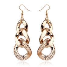 Hot Sale New Style Fashion Acrylic Chain Shape Female Drop Earrings,Long Earrings For Women Dresses,Free Shipping(China (Mainland))