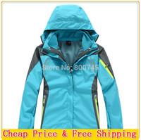 Free Shipping Softshell Fleece Lining 2-Layer Lady Winter Outdoor Sport Outerwear Waterproof Windproof Warm Women ski Jackets