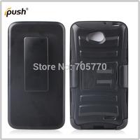 Free shipping Black Rugged Hybrid Hard Case Cover Belt Clip Holster For LG L90 Hybrid Silicon Hard Case Plastic Case