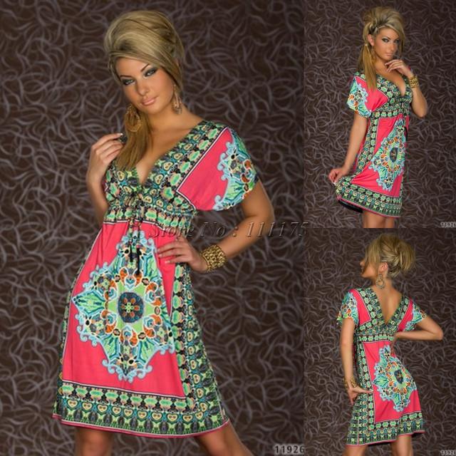 Summer Dress Fashion Retro