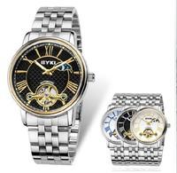 2014 EYKI new brand dress mechanical watch, tourbillon full steel Casual watches,men fashion Hollow sports watch