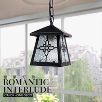 Rustic lighting pendant lights modern waterproof iron+glass lamp cover ceiling pendant lamps balcony E27 LED white black color