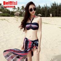 Free shipping Swimwear female big small push up 2014 sexy bikini piece set swimwear bikini