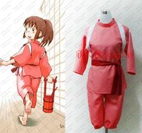 Cos Cute Japan Anime Spirited Away Ogino Chihiro Cosplay Costume Customized