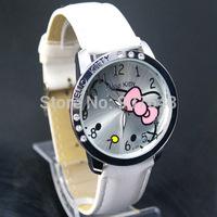 Wholesale 5pcs/set New Hello Kitty woman children Girls Lady Watch fanshion Wrist hellokitty watch mix color Free Shipping