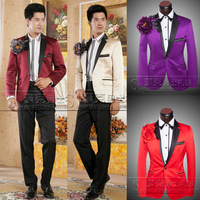 New 2014 Suit male formal dress the groom   groom wedding dress set