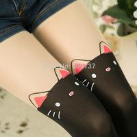 Women's Cute Tatoo False High Splicing Silk Stockings SH4