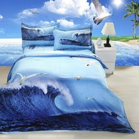 2014 New Free Shipping 3D Sanding Chinese Style 100% Cotton Queen 4 Pcs Bedding Sets/Bedclothes/Duvet Covers Bed Sheet. JS57