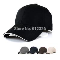 NEW Baseball Hat Plain Cap Blank Curved Visor Hats Men Women Velcro Solid Color