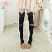 Women's Rose False High Splicing Silk Stockings SH34