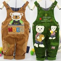 New boy girl baby corduroy suspenders baby corduroy jumpsuit children's clothes