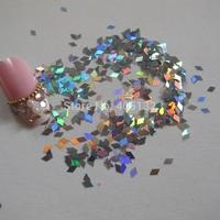 GD24-1 Free Shipping Wholesale 100g/bag Tiny Laser Silver Diamond Glitter Nice Nail art Glitter Pieces Nail art decoration