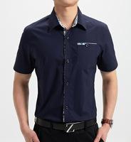 2014 casual dress mens shirts cotton so fashion skinny for summer M-XXXL  (DC0053)