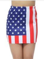 TOP SALE 2013 New Women clothes Summer USA Flag Star stripe mini shorts skirts free shipping EAST KNITTING fashion BL-070