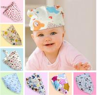 10pcs Fashion Baby Kid Toddler Bandana Bibs Saliva Towel Dribble Triangle boy girls cotton Head Scarf 21-40 colors