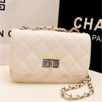 ( White ) Small size  fashion diamond-type lattice chain bag Messenger Bag  shoulder bag
