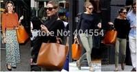 Top Quality! 2014 New Arrival Fashion Simple Women Solid Open HandBag Shoulder Bag Hand bag