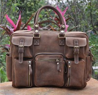Men Luxury bags First layer cow leather bag foe men travel leather bag retro large capacity multi-purpose for travelling