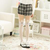 Women's White Bunny False High Splicing Silk Stockings SH33