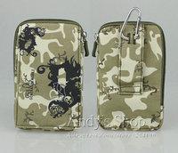 Smart Bag 3 Pocket With Belt Holder & Carabiner Clip Pouch Case For SmartPhone - Camouflage