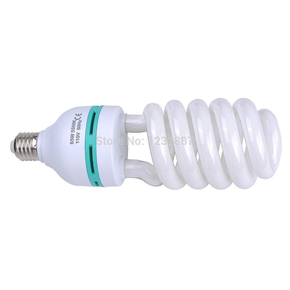 65W 5500K Photo Studio Energy Saving Day Light Bulbs Compact Fluorescent Lamp(China (Mainland))
