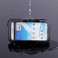New 2014 Universal Mobile Phone Bike Mount Holder Waterproof Touch Case for Samsung Galaxy i9220 N7000 Note 2 N7100 Note 3 N9000