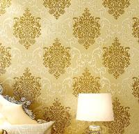 Damascus bedroom woven wallpaper 3d wallpaper the living room TV backdrop of European explosion models / P137