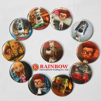 2014 New Hot 4.5cm Mr. Peabody & Sherman pin badge button Round Cartoon tin badge Decorations Wholesale 2400PCS Free Shipping