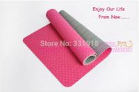 Free shipping Cheap High quality TPE yoga mat orange pink blue green grey purple