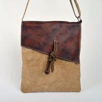 New fashion canvas messenger bag cowhide flip business shoulder bag vintage style crazy horse leather school bags