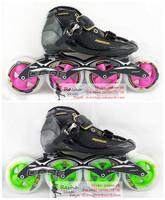 Original powerslide C4 speed skating shoes Professional  adult child roller skates with matter inline skates wheels